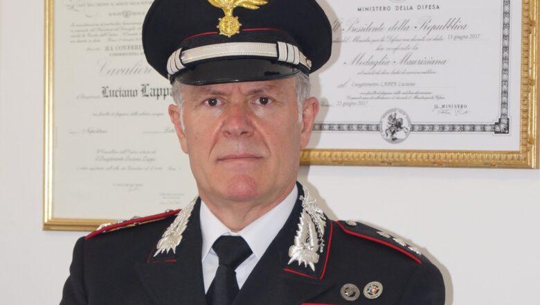 Promosso al grado di Capitano il comandante Luciano Lappa, una lunga e prestigiosa carriera nell'Arma