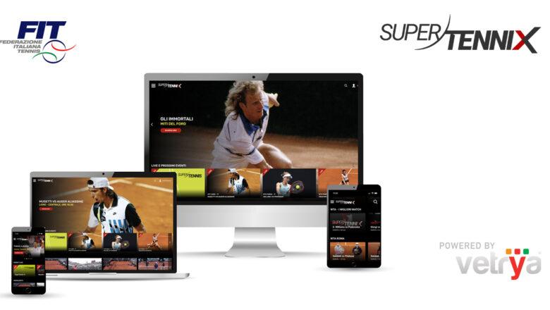 VETRYA e Sportcast rilasciano SuperTenniX: il servizio live e video on demand della Federazione Italiana Tennis