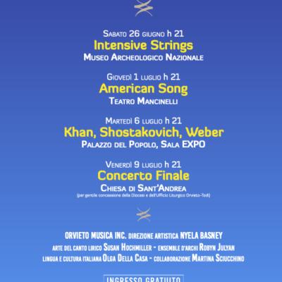 """""""ORVIETO MUSICA 2021"""" – Festival internazionale di musica da camera – 27a edizione Orvieto, fino all'11 luglio"""
