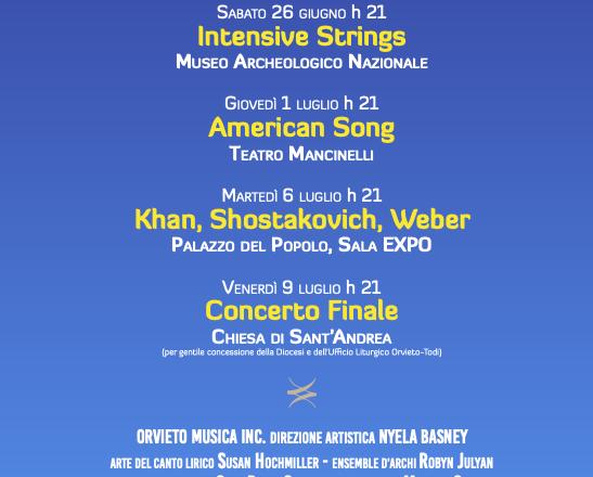 """""""ORVIETO MUSICA 2021"""" – Festival internazionale di musica da camera – 27a edizione Orvieto, fino all'11 luglio 🗓 🗺"""
