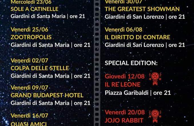 Monteleone, Cinema sotto le Stelle 2021 🗓