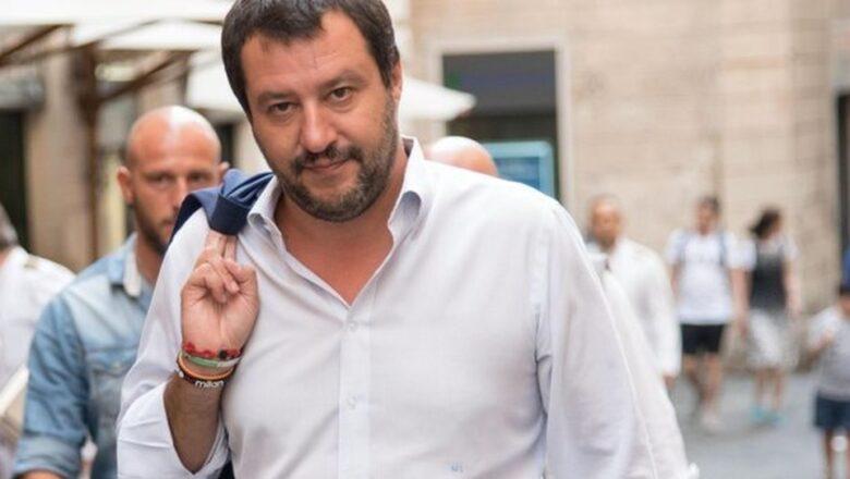 Matteo Salvini a Orvieto per promuovere il referendum sulla riforma della giustizia